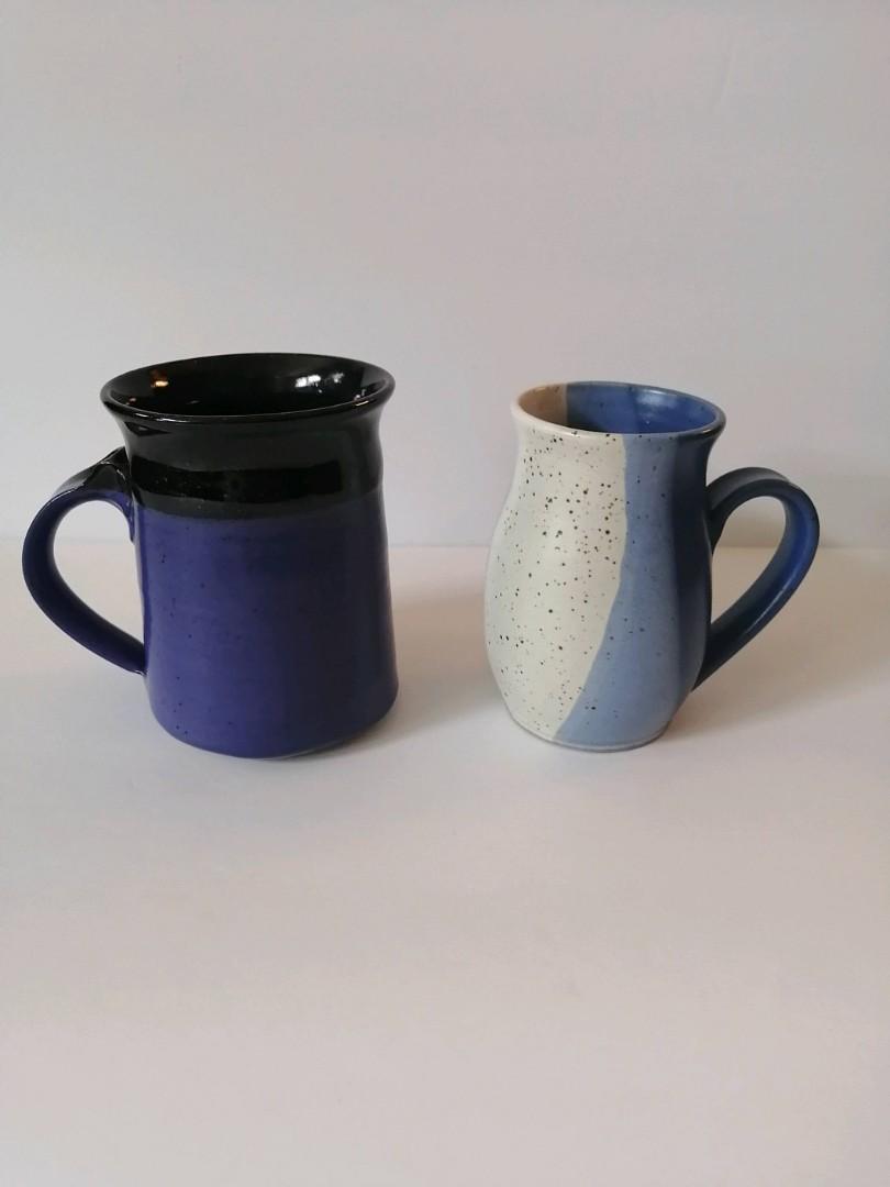 2 pottery mugs