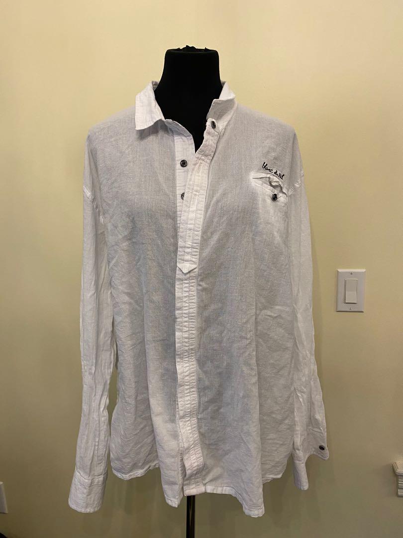 blanc du nil white shirts size XXL fits size S/M/L