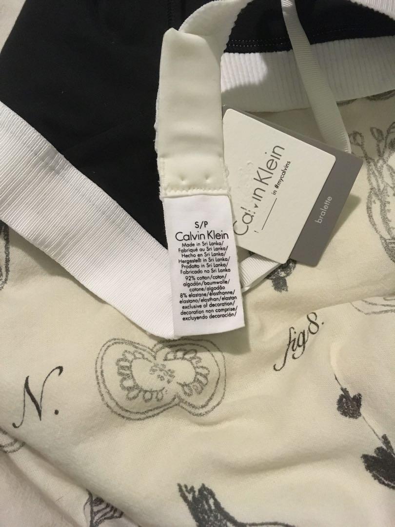 BNWT UO Calvin Klein ASOS Retro Halter Bralette Black Bra