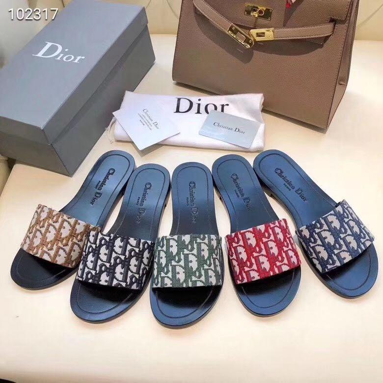 Dior Slippers, Women's Fashion, Shoes