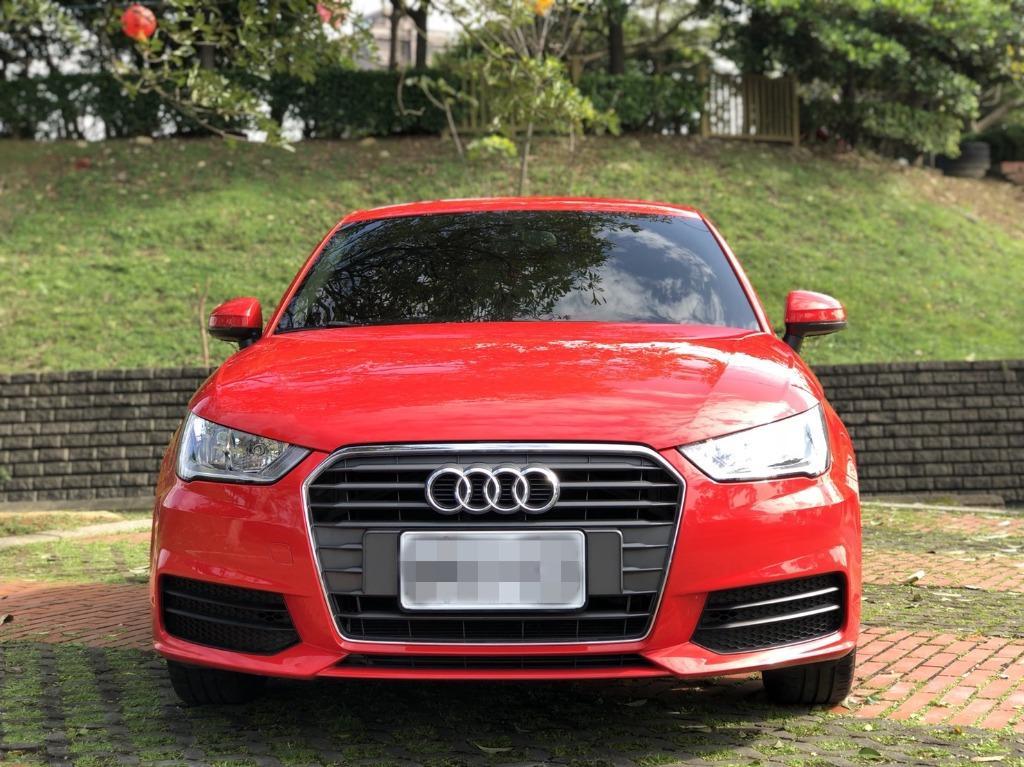 【FB搜尋桃園阿承】奧迪 超人氣A1跑2萬 2015年 1.0CC 紅色 二手車 中古車