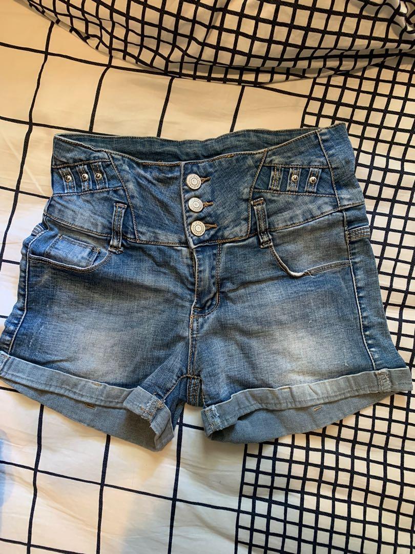 High Waist Button Up Denim Jeans