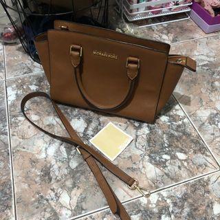 Michael Kors Brown Leather Bag