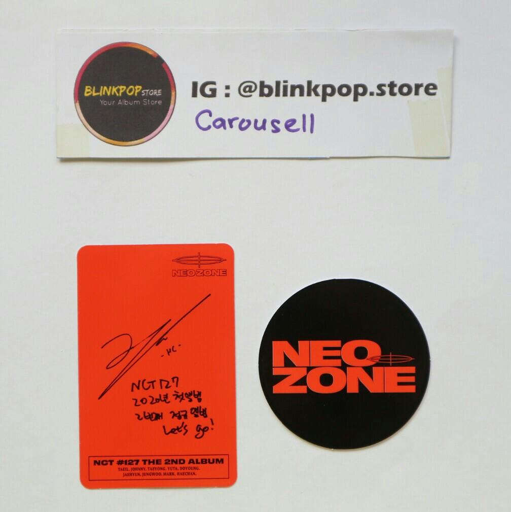 NCT127 NEO ZONE ALBUM PHOTOCARD C VERSION JOHNNY CIRCLE CARD READY STOCK