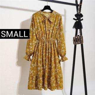 Longsleeves Korean Dress - Free Shipping
