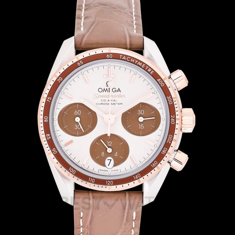 [NEW] Omega Speedmaster Co-Axial Chronograph 38mm Automatic Brown Dial Gold Men's Watch 324.23.38.50.02.002