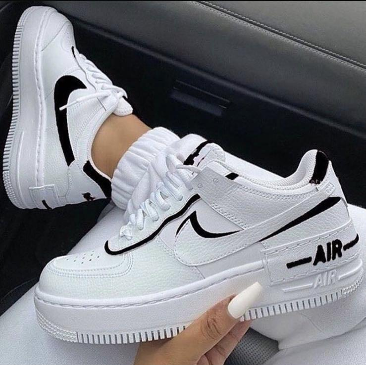 Nike Air Force 1 Shadow In Black And White Women S Fashion Shoes Sneakers On Carousell The nike air force shadow was initially designed to be a performance basketball shoe, to be worn on hardcourt and with features to help athletes grab air simple style, stacked with features. nike air force 1 shadow in black and white