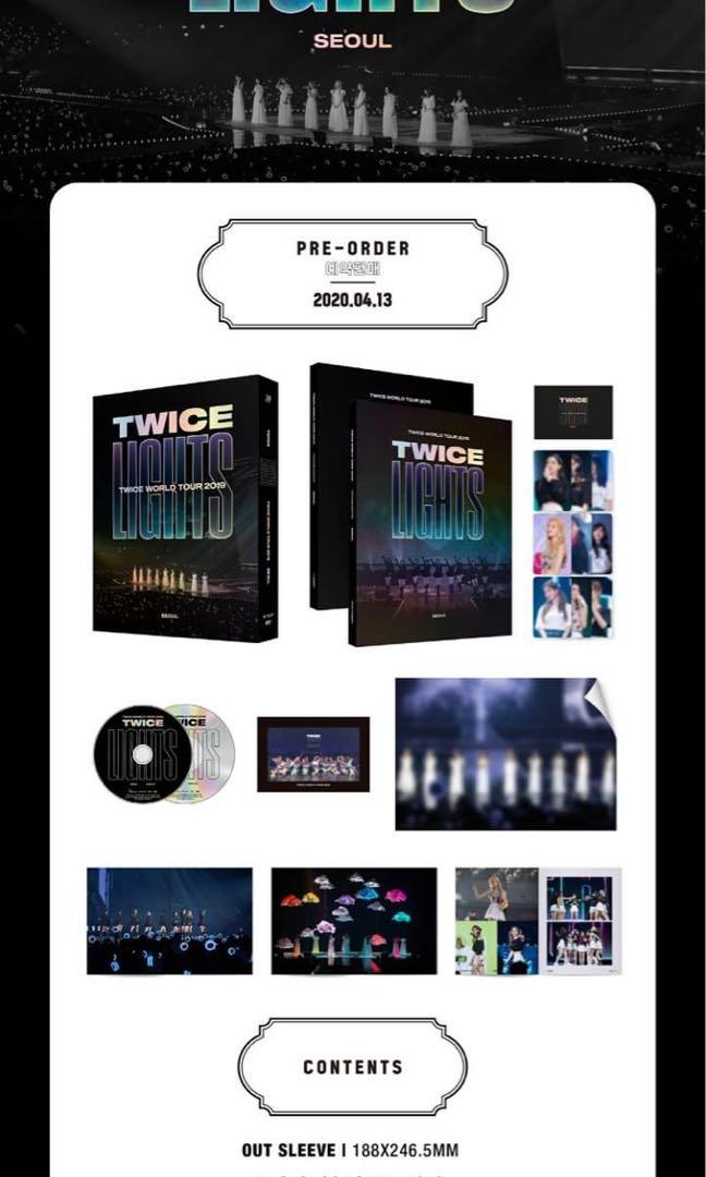 PREORDER 🇲🇾 DVD #TWICE WORLD TOUR 2019 'TWICELIGHTS' IN SEOUL