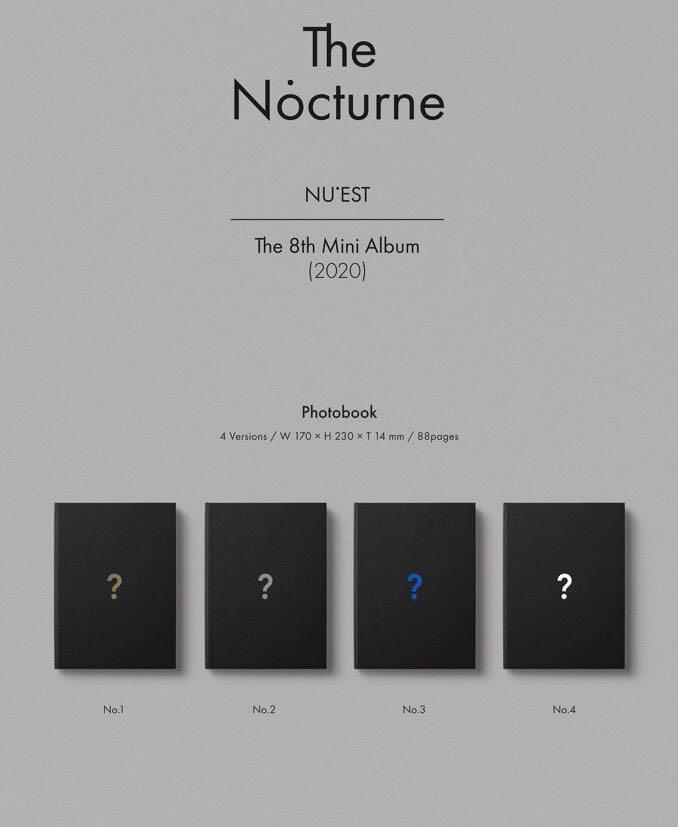 ✨PREORDER🇲🇾 #NUEST Mini Album Vol.8 [The Nocturne] *choose ver