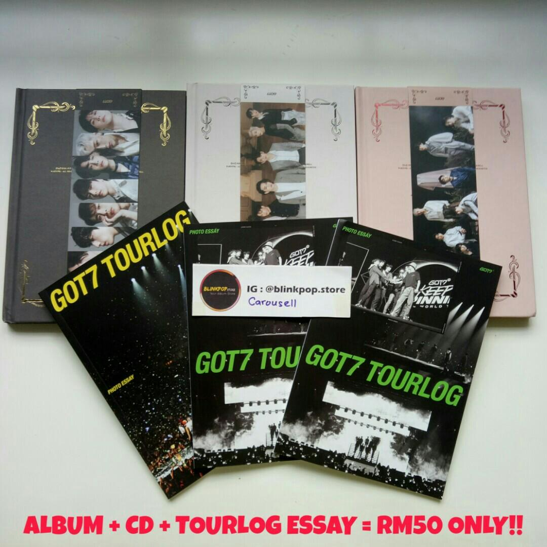 WTS GOT7 MINI ALBUM DYE ALBUM CD TOURLOG ESSAY POSTER IN TUBE READY STOCK