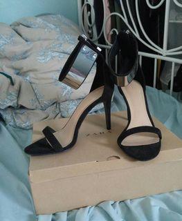Zara Cuffed Black High Heels
