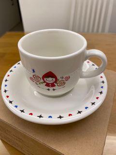 全新咖啡杯盤&點心盤組(白色) 喜歡可自取