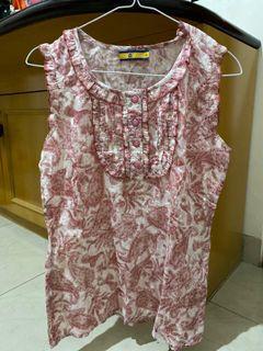 Batik modern pink baju atasan tanktop