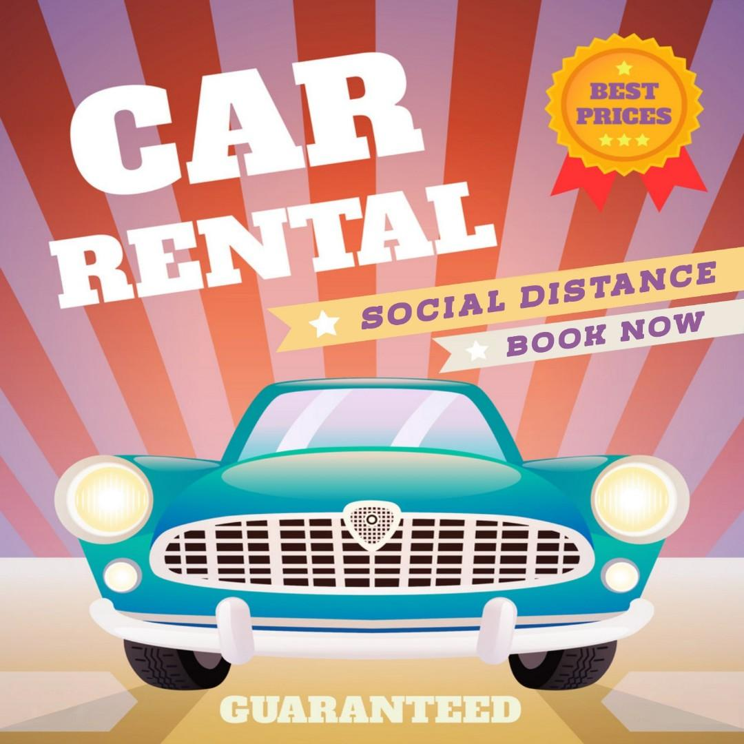 [COVID PROMO] CAR RENTAL AT ALL TIME LOW PRICES!!!