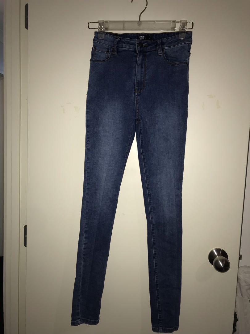 Glassons dark blue skinny jeans