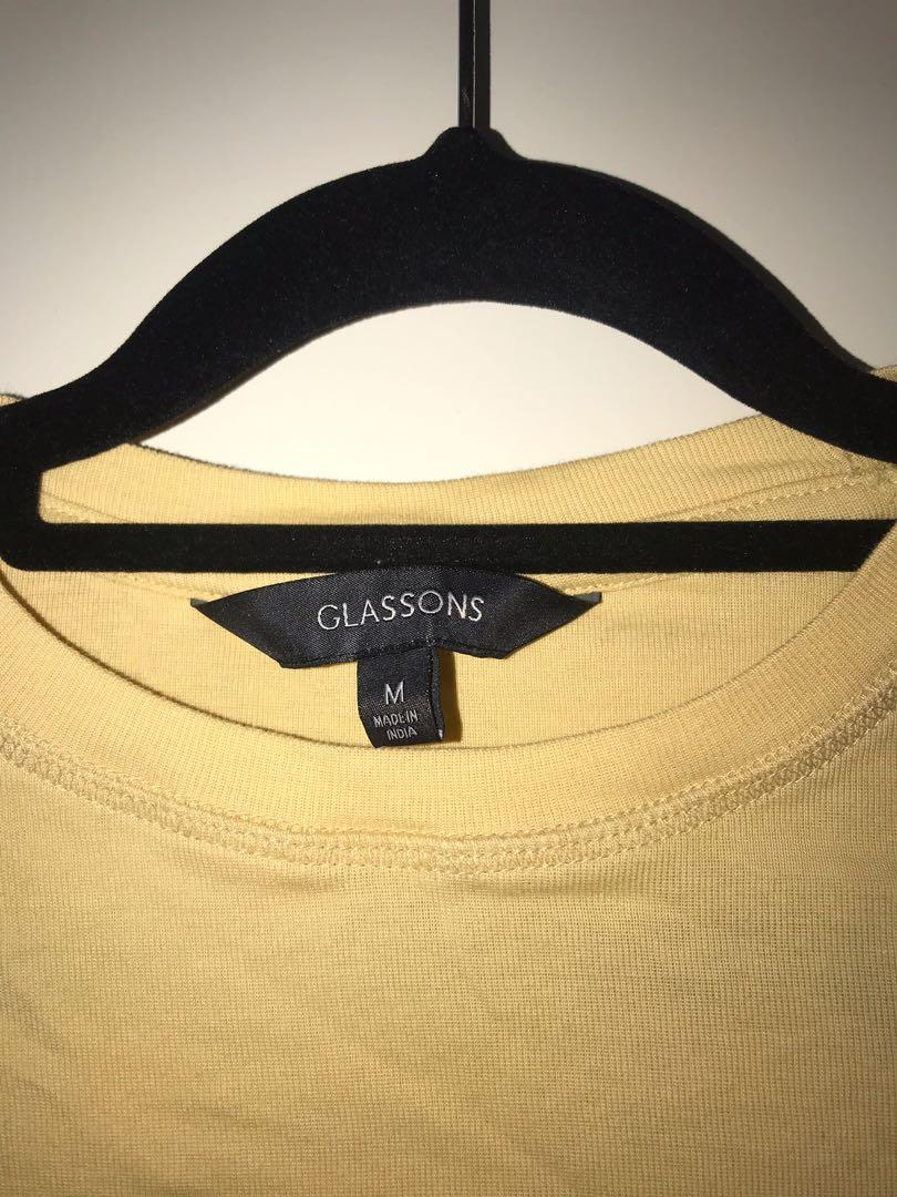 Glassons yellow fitted top