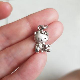 全新Hello Kitty 銀墜