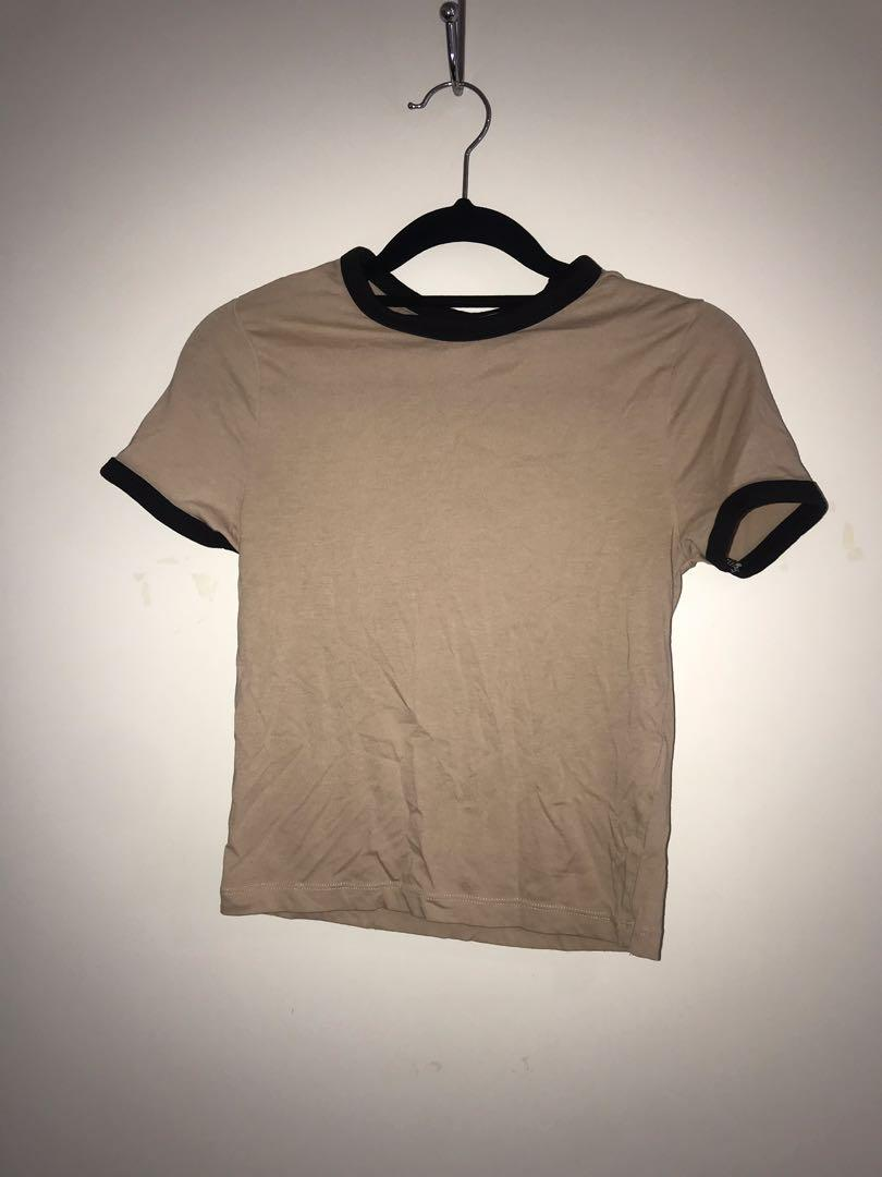 H&M fitted beige top