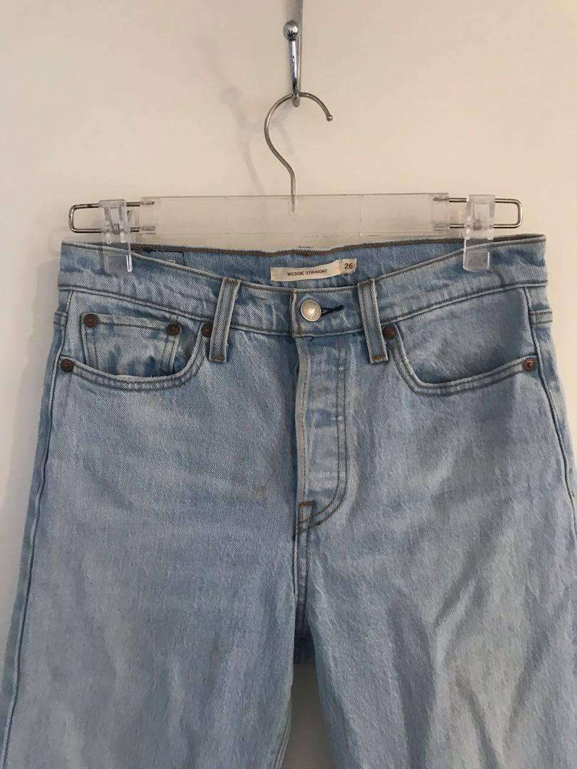 Levis wedgie straight blue jeans