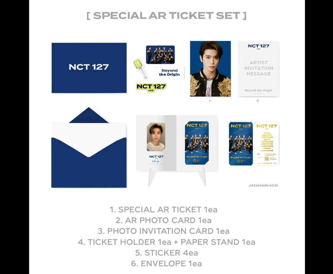 NCT 127 SPECIAL AR TICKET SET (without BEYOND live & VOD Ticket)