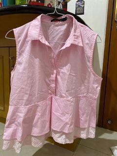 Pink Top atasan