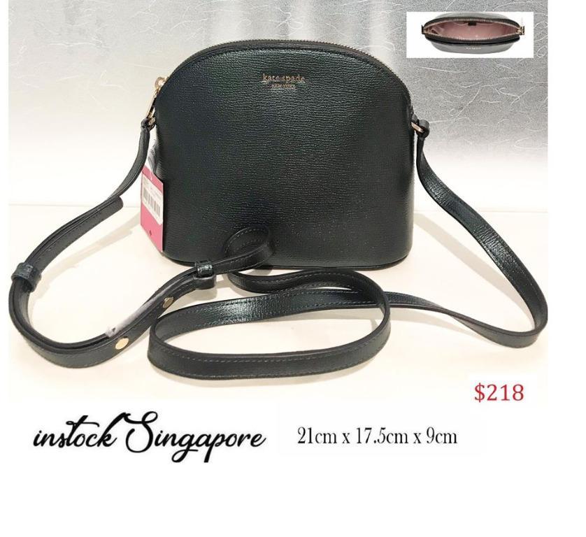 READY STOCK AUTHENTIC NEW Kate spade bag KATE SPADE PXRUA270 009 SYLVIA Lady's shoulder bag plain fabric BLACK/GOLD black (ei25)
