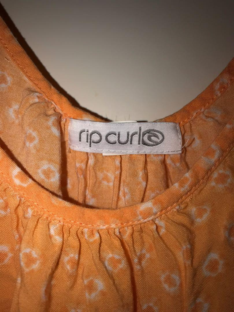 Rip curl orange dress