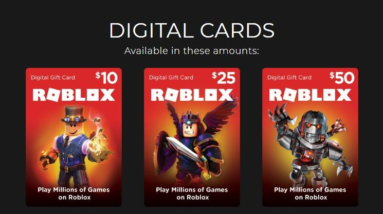 2000 Robux Gift Card Roblox Gift Card Robux 10 25 50 Usd Video Gaming Video Games On Carousell