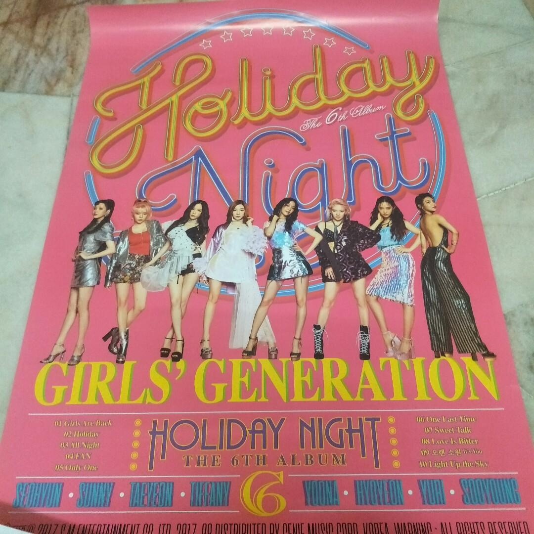 SNSD Girls Generation <Holiday Night> Official Poster