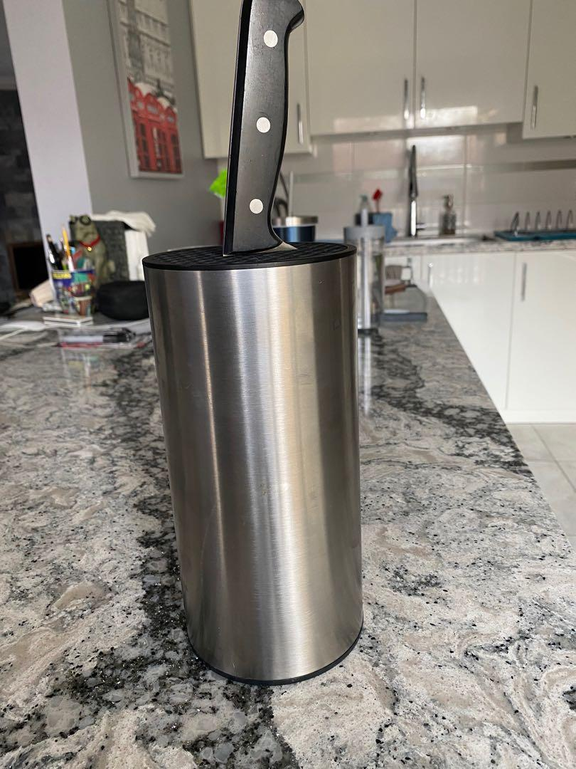 Stainless Steel Knife Block