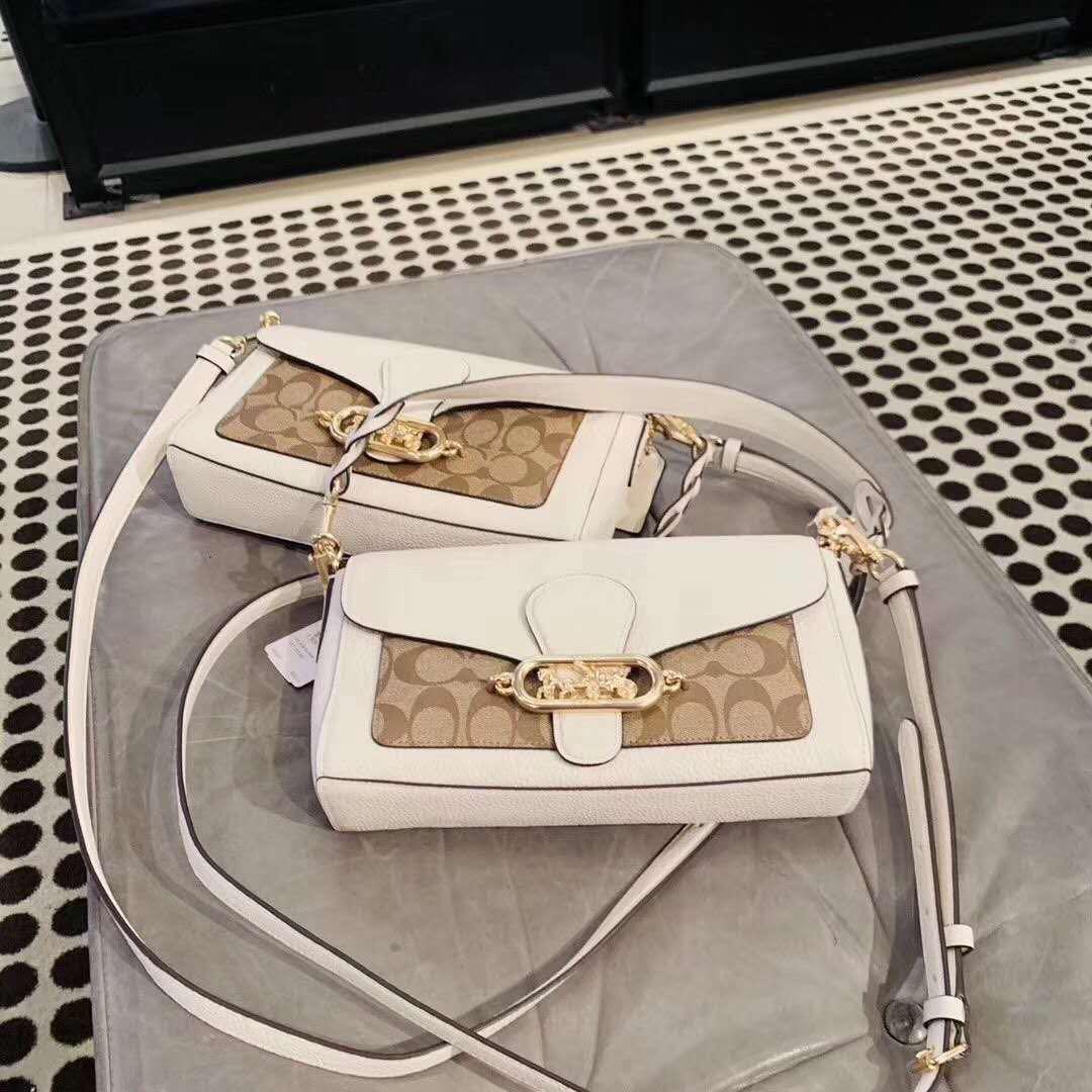 24 hour flash sale❤️ Coach Small Jade Shoulder Bag + Free Prada Cosmetic Pouch