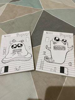 2 notebook kecil lucu polos