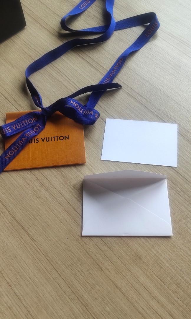 💯AUTHENTIC LV GIFT TAG PRESENT RIBBON LOUIS VUITTON ORIGINAL New mini card message envelope tag