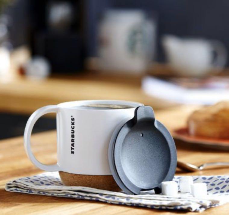 Bnib Authentic Starbucks Ceramic Cork Bottom Coffee Mug White Home Appliances Kitchenware On Carousell