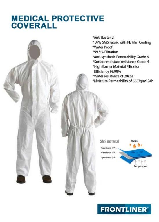 bunny suit coverall chemical suit hazmat