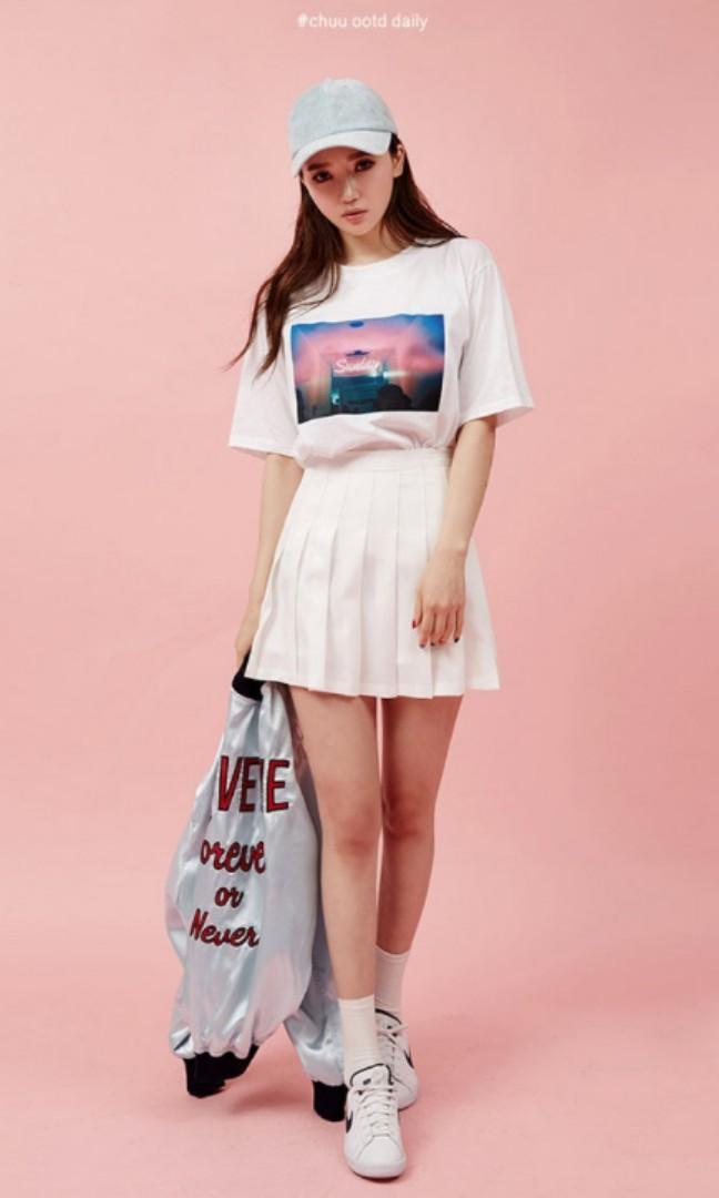 Chuu Pink Pleated Mini Skirt