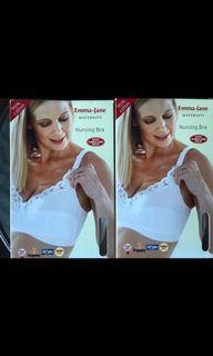 Emma Jane maternity cotton nursing bra (white)