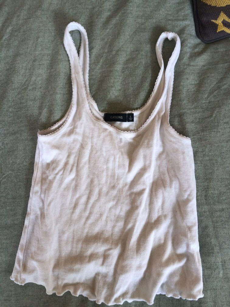 Glassons crop singlets