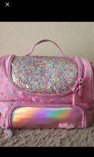 lunch bag pink glittery smiggle