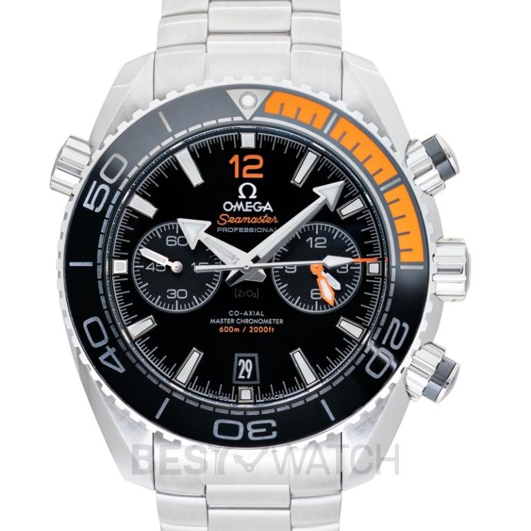 [NEW] Omega Seamaster Planet Ocean 600M Co-Axial Master Chronometer Chronograph 45.5mm Automatic Black Dial Steel Men's Watch 215.30.46.51.01.002