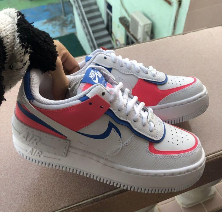 Nike Air Force 1 Shadow Cotton Candy Women S Fashion Shoes On Carousell Shipping time might be less or more depending on volume. nike air force 1 shadow cotton candy