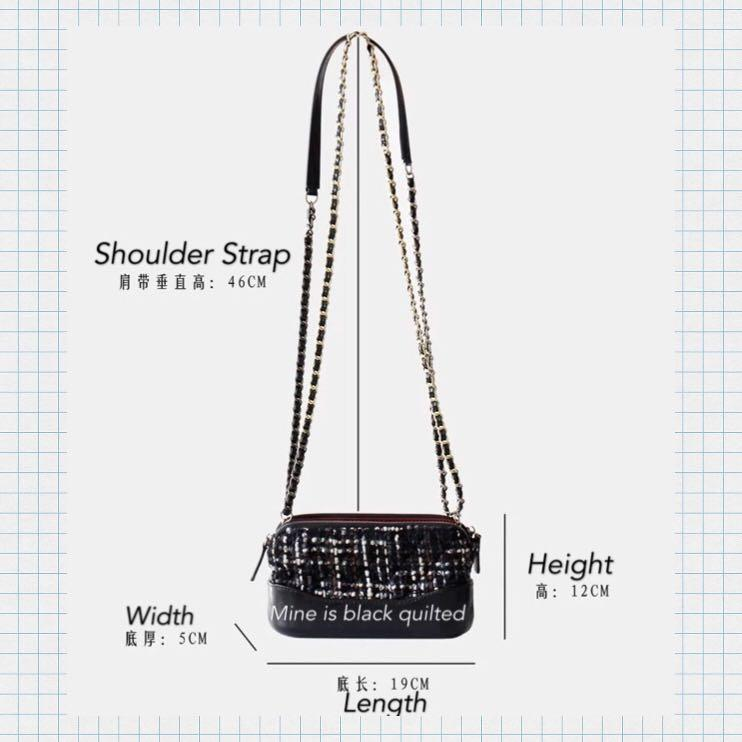 NWOT Genuine Leather Chain Strap Quilted Crossbody Bag