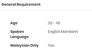 Sales Executive *require Mandarin, Multiple vacancies