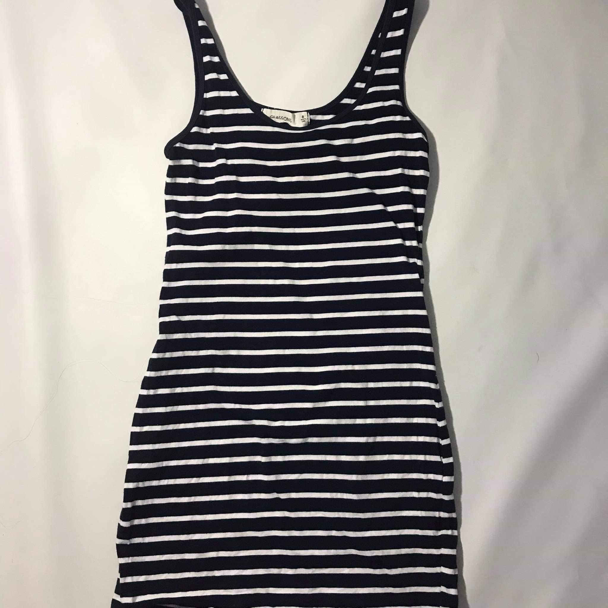 Striped body con dress