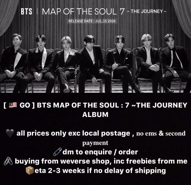 [ PO ] BTS OFFICIAL MAP OF THE SOUL:7 JAPANESE ALBUM