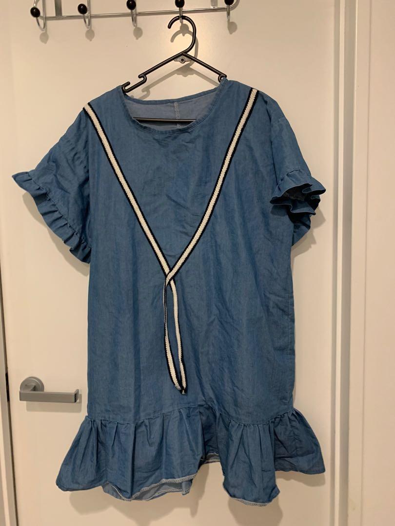 Blue Baggy Dress
