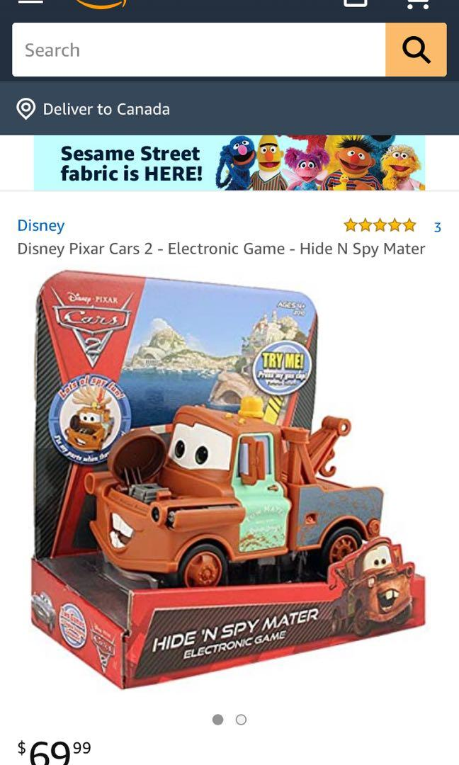 Cars Hide And Spy Mater Electronic Car - Like New!