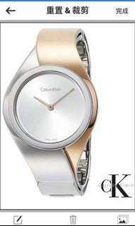 全新CK璀璨手環式 石英腕錶