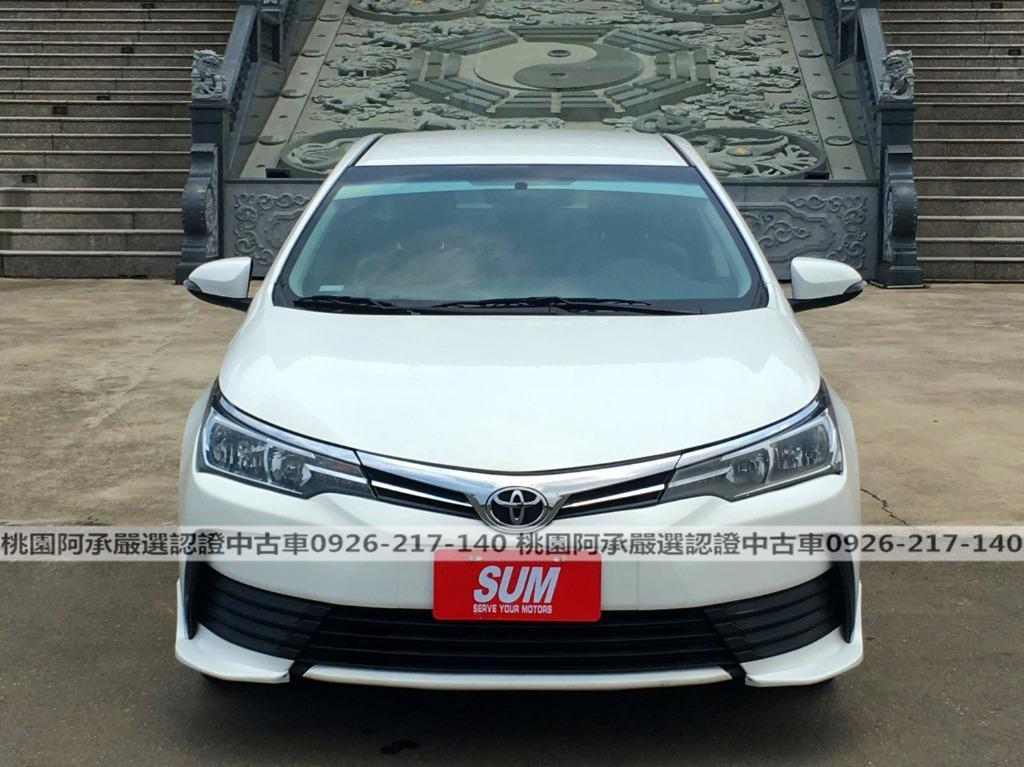 【FB搜尋桃園阿承】豐田 超人氣ALTIS 2017年 1.8CC 白色 二手車 中古車