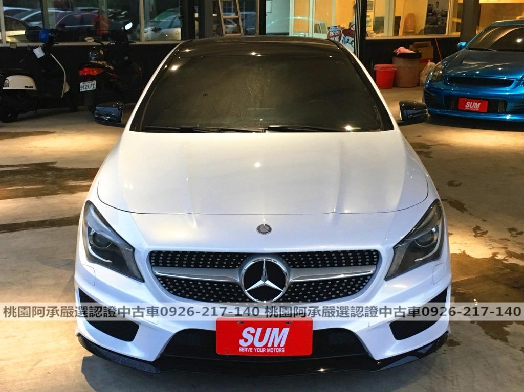 【FB搜尋桃園阿承】賓士 超人氣CLA250 2015年 2.0CC 白色 二手車 中古車